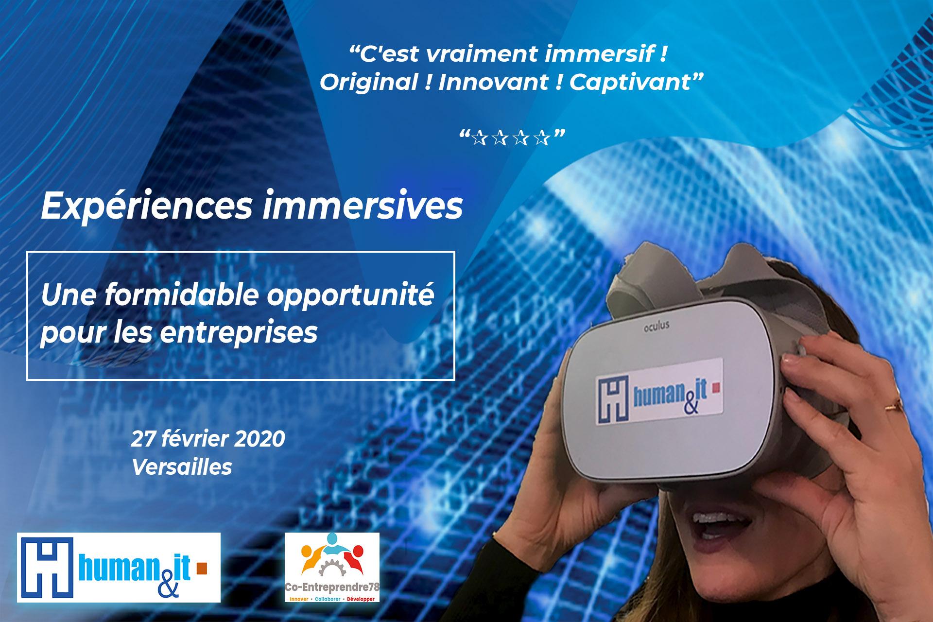 Human & IT Les usage de la réalité virtuelle au service des RH : onboarding immersif soft skills VR recrutement #VR #RV